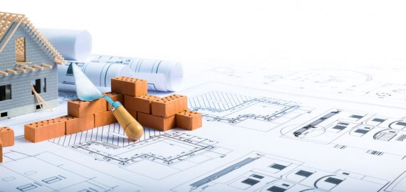 41378335 - building house  bricks and project for construction industry